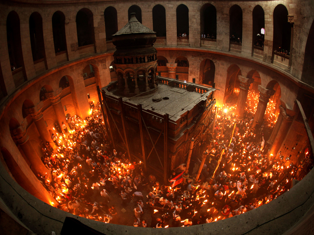 The Holy Fire in Jerusalem