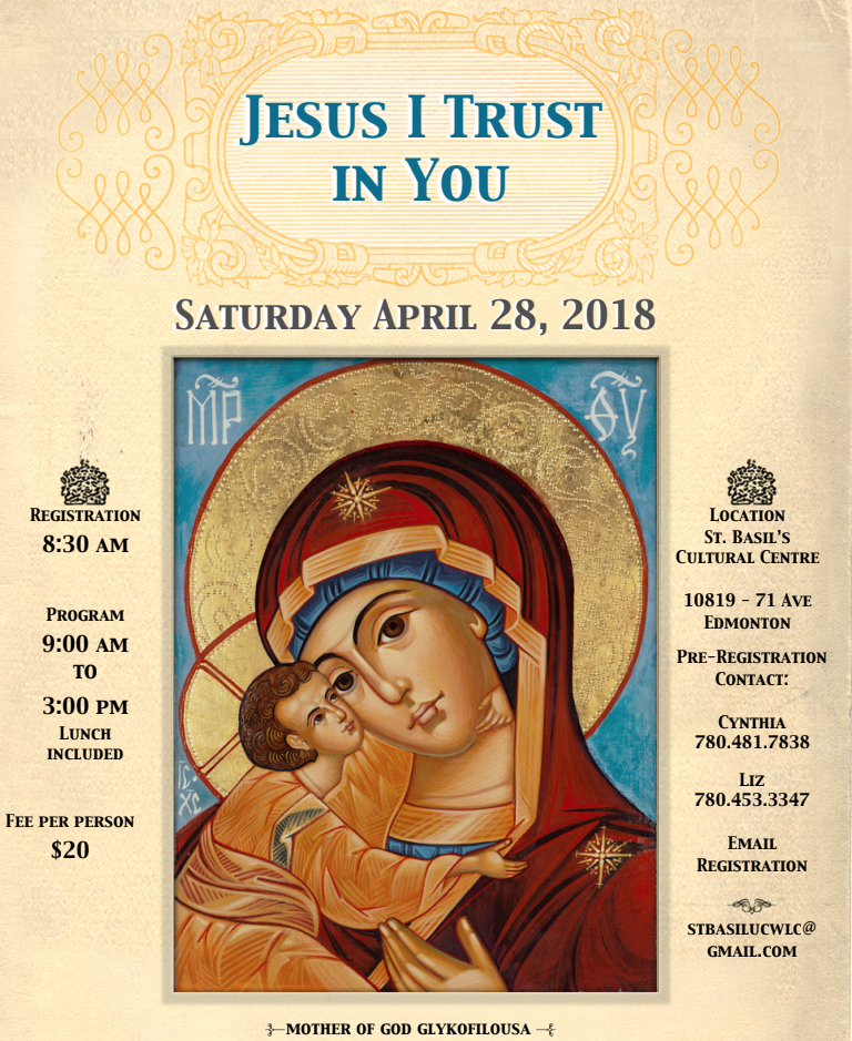 "The St. Basil UCWLC ""One Day Retreat"" ""Jesus I Trust in You"""