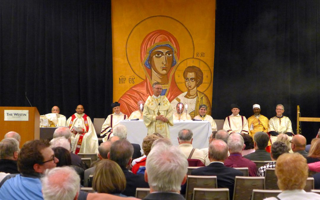 Special meaning in Divine Liturgy at Knights of Columbus convention: Several Churches join in celebration