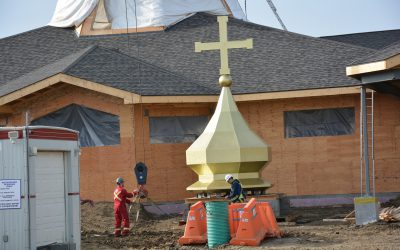 'We've waited 15 years for this': New Ukrainian church for Sherwood Park parish topped off with golden dome